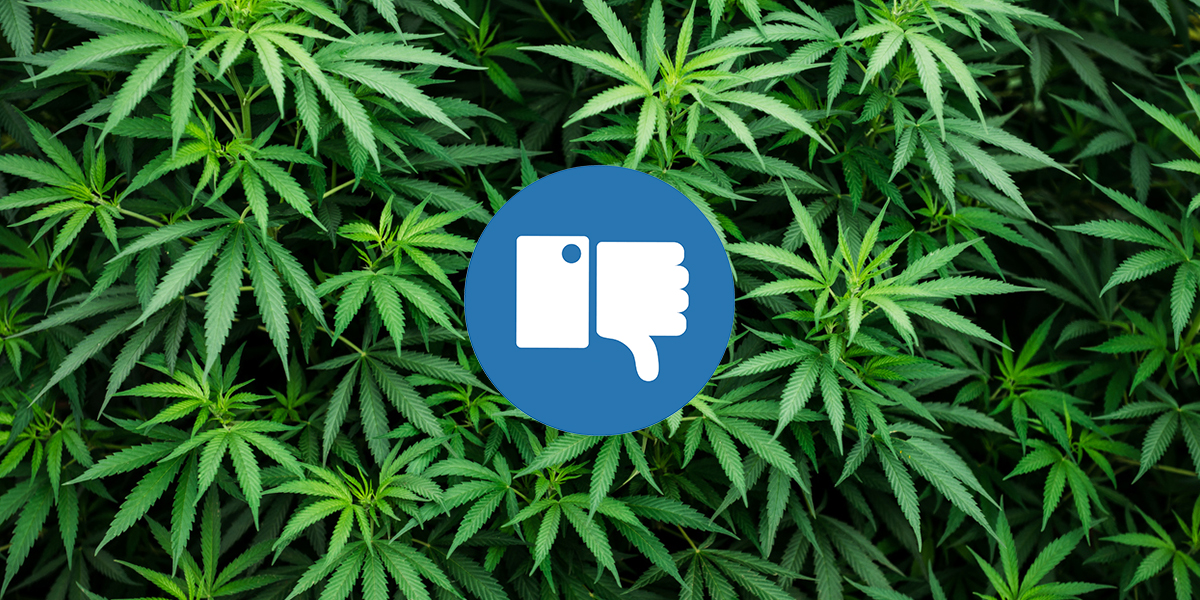 Facebook Continuing to Ban Cannabis Promotions
