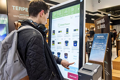 Nova Cannabis Retail Store Order Screen