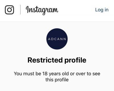 Instagram Restricted Profile