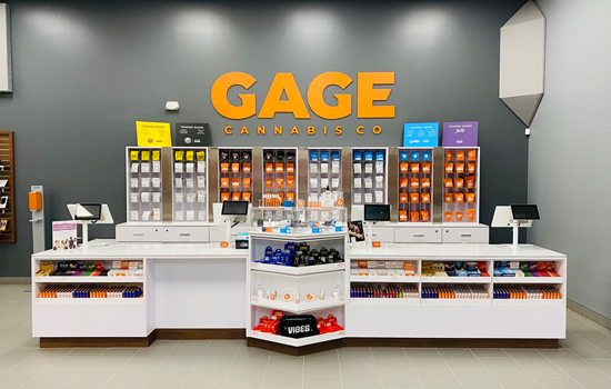 Gage Cannabis Store Checkout